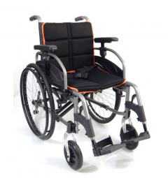 Aliuminio vežimėlis